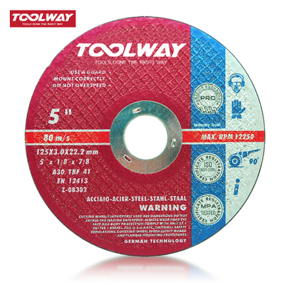 "5"" -125MM Free-hand angle grinder cutting wheels FOR STEEL"